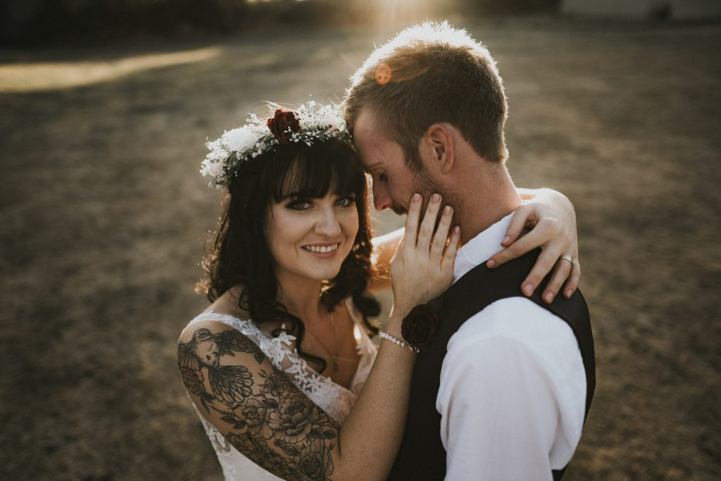 Golden hour photography with Ashleigh by wellington wedding photographer Binh Trinh
